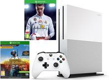 Microsoft Xbox One S 1 TB + Playeruknowns Battlegrounds +FIFA 18 + 6M XBL biały
