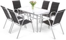 Stół ze szklanym blatem Toscana Silver / Taupe