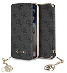 Guess Book 4G Charms Collection - Etui iPhone 8 / 7 z kieszeniami na karty (szary)