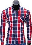 Opinie o Ombre Koszula K318 - CZERWONA