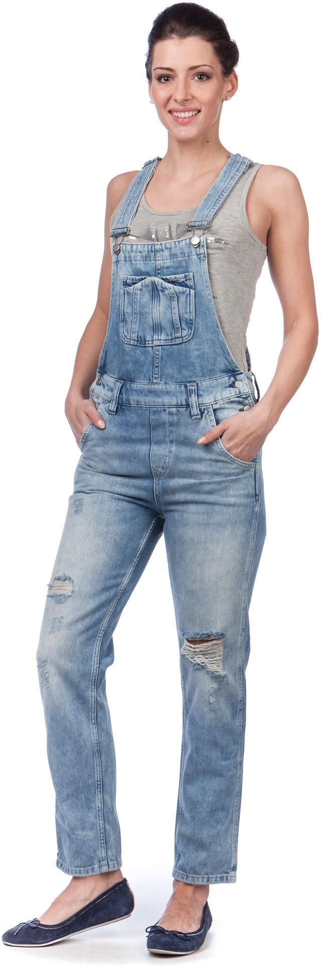 Pepe Jeans kombinezon damski Nomad S niebieski