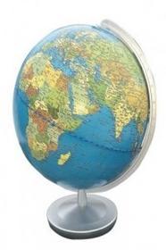 Columbus Verlag Terra Globus, Meridian und Fuß silberfarben Kunststoff