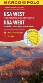 Euro Pilot praca zbiorowa Zachodnie USA. Mapa samochodowa w skali 1:2000000