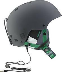 Salomon Brigade męski kask narciarski i snowboardowy, skorupa z tworzywa ABS, wewnętrzna pianka z tworzywa EPS, okablowanie do systemu audio, szary, s L36843300