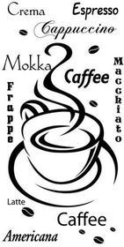 Oobrazy Cytaty, Caffee, Naklejka ścienna, 50x100 cm