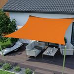 Jarolift Żagiel przeciwsłoneczny, kwadratowy, z tkaniny wodoodpornej, pomarańczowy, 300x300 cm