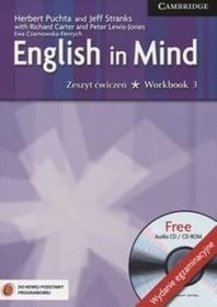Język angielski English in Mind Exam New 3 Work Book Klasa 1-3 Zeszyt ćwiczeń gimnazjum Richard Carter Herbert Puchta Jeff Stranks