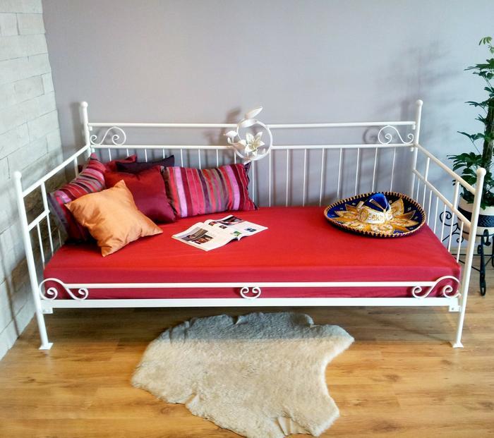 Lak System Łóżka metalowe Metalowe łóżko sofa 120x200 WZÓR 10 K 12020010