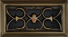 Kratka ozdobna K-8a mosiądz patyna 2628