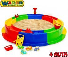 Wader Quality Toys Piaskownica XXL z torem wodnym Akcesoria Statek Autko 40923