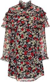Bonprix Sukienka szyfonowa czarny w kwiaty