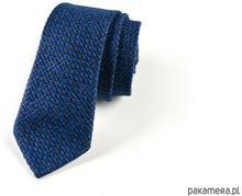 HisOutfit krawat jedwabny we wzorek HANDMADE