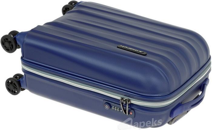 26c9468e0a5f8 ... March Rocky mała walizka kabinowa 3650-84-52 niebieski 4 kółka ...