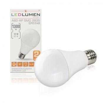 LEDlumen Żarówka LED A60-AP E27 12W 230V 16x2835 LED CCD CW 128969964