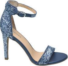 Graceland sandały na obcasie niebieskie