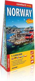 ExpressMap praca zbiorowa comfort! map Norwegia. Laminowana mapa samochodowa 1:1 000 000
