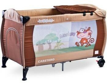 Caretero IKS 2 łóżeczko łóżeczka turystyczne Medio Classic Brown/Beige