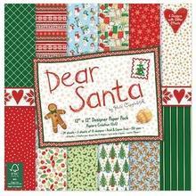 Świąteczny papier Dear Santa 30,5x30,5 cm
