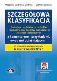 ODDK Szczegółowa klasyfikacja dochodów, wydatków, przychodów i rozchodów oraz środków pochodzących ze źródeł zagranicznych - Magdalena Majdrowicz-Dmitrzak,