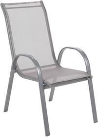 Krzesło aluminiowe ogrodowe Sevilla Alu Silver / Grey