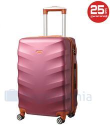 Kemer Mała kabinowa walizka EXCLUSIVE 6881 SS Bordowo brązowa - bordo / brązowy