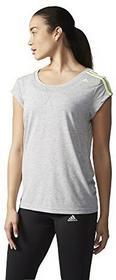 Adidas Essentials 3S Tee damska koszulka treningowa, szary, XXS AB5929-2XS_Grau/Gelb_XXS
