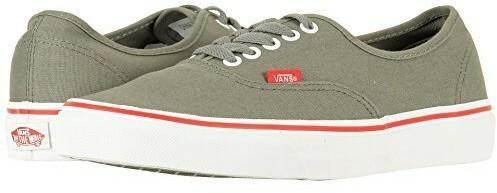 909e956248 Vans Men s Authentic Skate Shoes (Pop) Castor Gray Racing Red (9 D ...