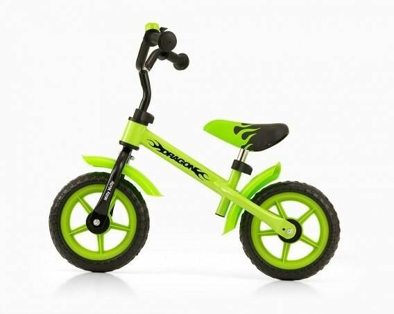 MillyMally Rowerek biegowy Dragon zielony