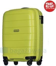 Puccini Mała kabinowa walizka MADAGASCAR PP013C 5 Limonkowa - limonkowy PP013C 5