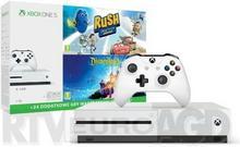Microsoft Xbox One S 1TB Biały + Rush Przygoda ze studiem Disney Pixar + Disneyland Adventures + XBL