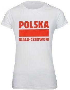 No brand T-shirt damski Polska Biało-Czerwoni S337909 rozm XS biały S353636-XS damski