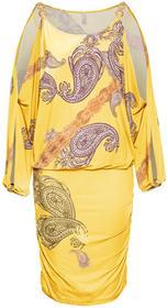 Bonprix Sukienka żółty wzorzysty