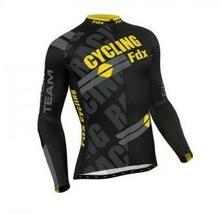 FDX FDX Pro Cycling Long Sleeve Thermal Jersey M FDX_1050_YELLOW#2