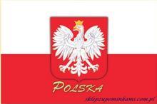 Polska pamiątki magnes flaga Orzeł 0705