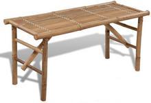 vidaXL Składana, bambusowa ławka