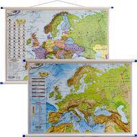 EKO-GRAF Europa mapa ścienna polityczna i fizyczna dwustronna 1: 7 000 000 - Eko-graf