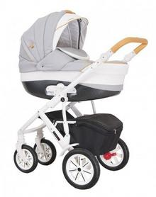 Coletto Verona Eco, Wózek głębokospacerowy 3w1, v10, Biały