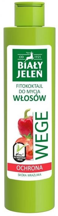 Pollena Biały Jeleń Wege Fitokoktajl do mycia włosów ochronny Pomidor i Papryka 250ml