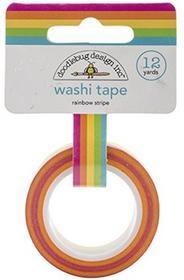 Doodlebug Doodle Bug Washi Tape 15MM X 12yd-Rainbow Stripe DWASHI-4546