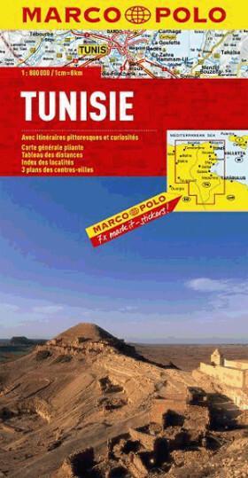 Tunezja 1: 800 000  - mapa Marco Polo - Marco Polo