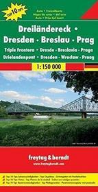 Drezno-Wrocław-Praga mapa T10T 1:150 000 Freytag & Berndt - Freytag & Berndt