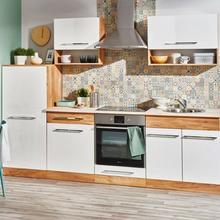 Deftrans Gotowy zestaw mebli kuchennych Deftrans Double dąb złoty/biały 064-Z-26001