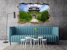 Oklejaj Naklejka na ścianę Dziura 3D Chiński zamek 0384 nakl_dziura3d_384