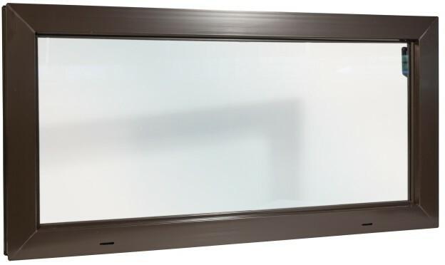 Okno gospodarcze ACO PVC 100 x 50 cm brązowe