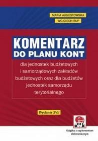Augustowska Maria , Rup Wojciech Komentarz do planu kont 2018 - dostępny od ręki, natychmiastowa wysyłka