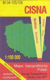 WZKart Cisna Bieszczady Zachodnie Wetlina Komańcza mapa 1:100 000 WZKart