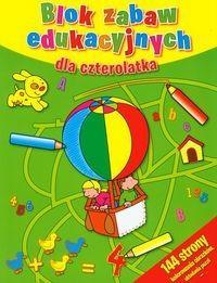 Blok zabaw edukacyjnych dla czterolatka - Wysyłka od 3,99