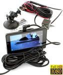 CG Auto 3w1! Rejestrator Samochodowy FHD + Kamera Parkowania + Rejestrator Wnętrza/Wokół Pojazdu 12/24V)