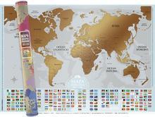 Mapa zdrapka Flagi szaro-złota Playprint