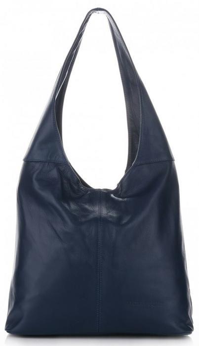 e2143b538c2ee VITTORIA GOTTI Włoskie Torebki ze Skóry Naturalnej ShopperBag Firmy Vittoria  Gotti Niebieskie - Jeans V3Lnje – ceny